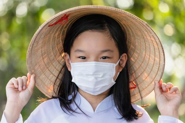 asian children girl vietnam protect virus covid 19 coronavirus wear mask 39733 530